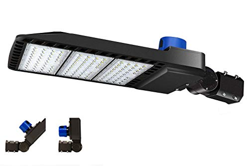 300W LED Parking Lot Light 36000LM 5000K Adjustable Slip fit Mount with Dusk-to-Dawn Photocell IP65 Waterproof LED Parking Lot Lights