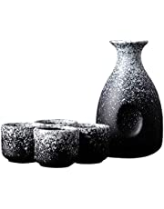 Black Temptation Set de Vino de Sake de Estilo japonés, hogar, cerámica, Retro, clásico, Conjunto de Copas de Vino, A1