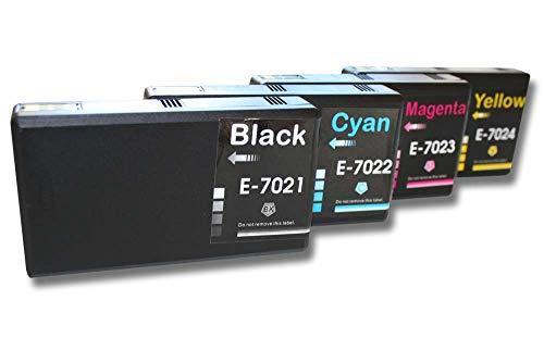 SET 4 x Cartucce vhbw per Epson Workforce Pro WP-4015 WP-4035 WP-4095 WP-4515 WP-4535 WP-4595.