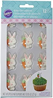 Wilton Easter Bunnies Love Carrots Icing Decorations