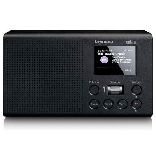 "Lenco PDR-31 - tragbares DAB+ Radio mit Bluetooth - PLL FM Radio - 2,4"" TFT LCD Farbdisplay - 2 Watt RMS - Passive Subwoofer - Integrierter Akku mit 2200mAh - AUX-IN und Out - Schwarz"