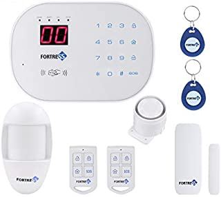 Compatible with Alexa- App Controlled Updated S03 WiFi Landline Security Alarm System Basic Kit Wireless DIY Home and Business Security System by Fortress Security Store- Easy to Install