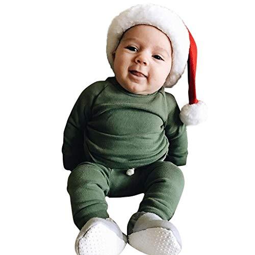 0-24 meses niñas conjunto de trajes conjunto de recién nacido niños niñas sólido tops pantalones leggings...