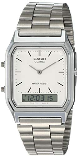 Casio Collection - Unisex-Armbanduhr mit Analog/Digital-Display und Edelstahlarmband - AQ-230A-7DMQYES