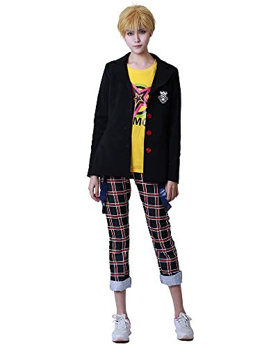miccostumes Men's Ryuji Sakamoto School Uniform Winter Outfit Blazer T-Shirt Pants (S) Black Massachusetts