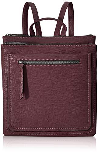 TOM TAILOR Rucksack Damen Becky, Rot (Dunkelrot), 26.5x29x4 cm, TOM TAILOR Rucksackhandtasche, Damenrucksack,handtasche rucksack damen