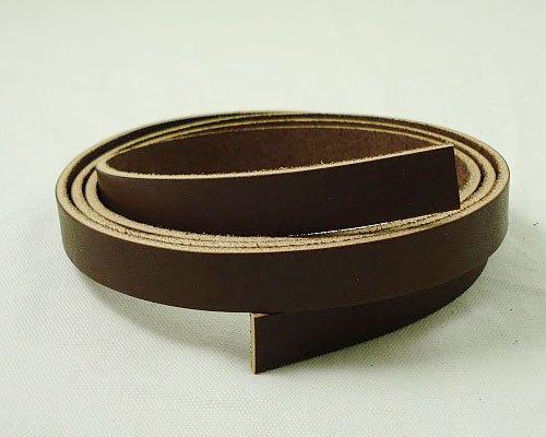 牛ヌメオイルレース15mm(チョコ) 長さ150cm