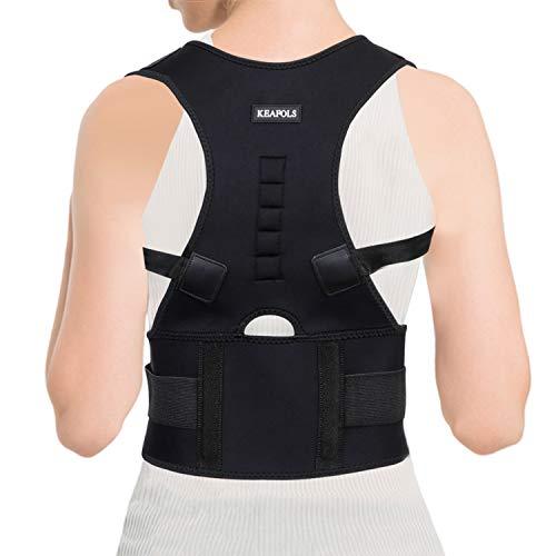 KEAFOLS Haltungskorrektur Geradehalter zur Haltungskorrektur Rückentrainer Schulter Rückenstütze Schultergurt gegen Nacken -und Schulterschmerzen für eine Gesunde Haltung