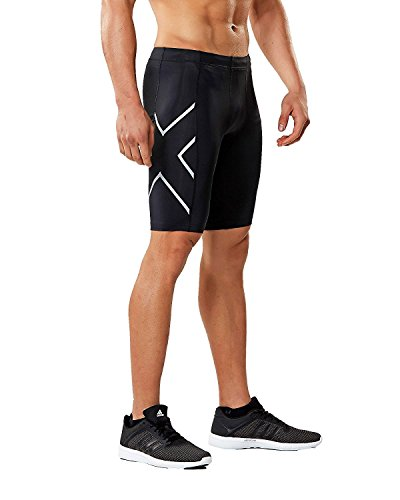 2XU Core Compression Shorts, Black/Silver, Small