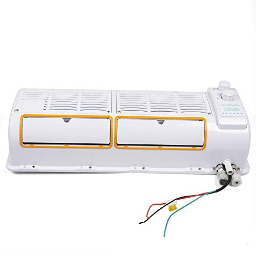 12V 18000BTU/H Wall-Mounted Car Air Conditioner Fan Manual Three-speed Adjustable Hanging Cooler for Car Caravan Truck
