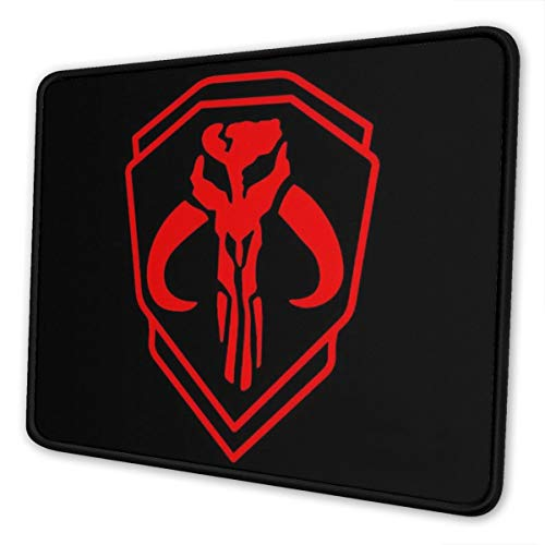 Large Manda-lorian Black Red backgorund Gaming Mousepad Laptop Mouse Pad Waterproof Non-Slip Mouse PadsCan Be Cleaned Desk Decor Suitable for Office Family Games, Travel 10x12 Inch