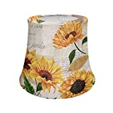 AFPANQZ Vintage Lamp Shade Sunflower Print Table Lamp Floor Lamp Livingroom Bedroom Decorative Shade 7.1' x 9.5' x 7.9' Beige Yellow Bell Lampshade UNO E27