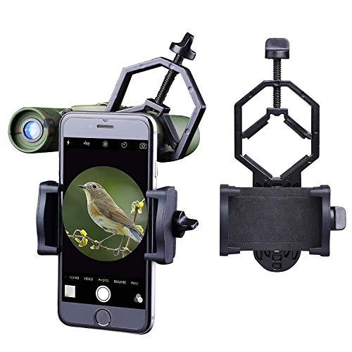 Libershine Universal Teléfono Móvil Soporte de Adaptador – Adaptador Smartphone Móvil Universal Adaptador DKA5 para Telescopio, Prismáticos, Telescopio Terrestre, Microscopio