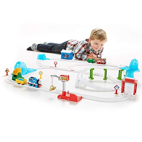 Review Learning & Activity Toys Boy Track Racing Toy Electric Snow Rail car Big Adventure Track Set ...