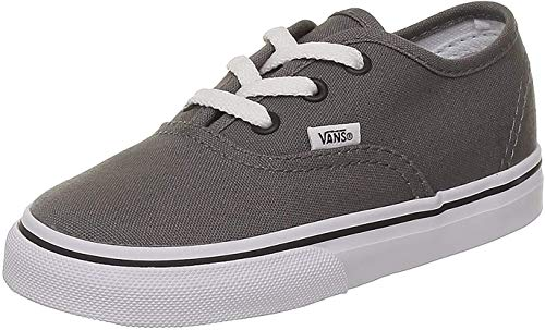Vans K AUTHENTIC Pewter/Black VEE0PBQ, Unisex - Kinder Lauflernschuhe, Schwarz (pewter/black), EU 33