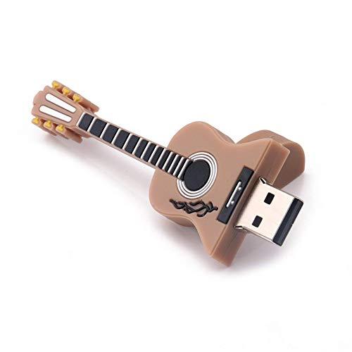 Yhjkvl Memoria USB 2.0 para mini guitarra, USB, tamaño 2 GB, color marrón