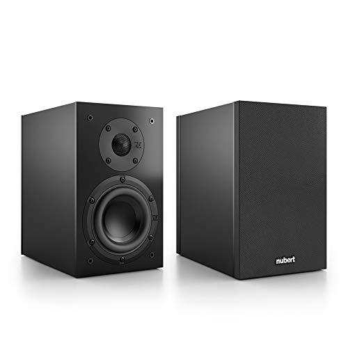 Nubert nuBox 303 Dipollautsprecherpaar | Lautsprecher für Heimkino & HiFi | Musikgenuss auf hohem Niveau | Passive Surroundboxen mit 2 Wege Technik | Kompaktlautsprecher Schwarz | 2 Stück
