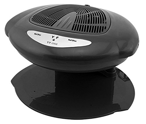 Crisnails  Ventilador Secador de uñas Frío y Caliente Profesional Automático Nails (Negro)