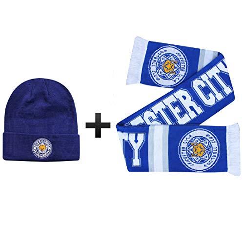 Offizielle Leicester City (Premier League) Mütze und Schal Geschenkset