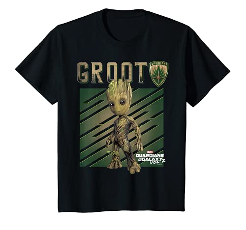 Kinder Marvel Guardians Vol. 2 Baby Groot Shield Kids T-Shirt