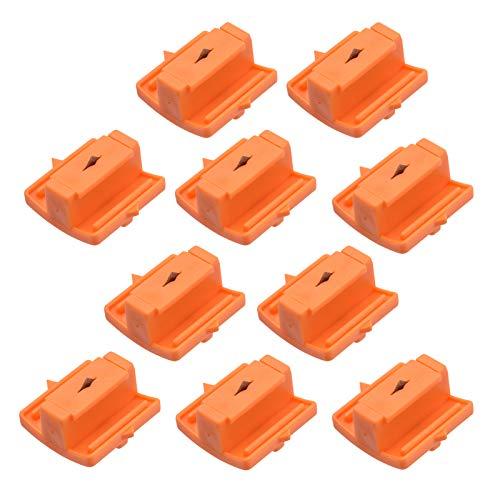 Aibecy Recambio de cuchillas de repuesto para cortador de papel para manualidades,papel fotográfico,tarjeta de imagen,corte de álbum de recortes para 9090 A5, mini recortadora de papel portátil,10pcs