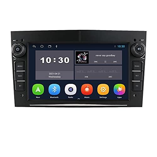 Android 10 Coche Estéreo con Pantalla táctil de 7 Pulgadas Se Adapta a Opel Astra/Corsa/Meriva/Vectra/Zafira/Tigra, admite el Soporte de navegación GPS USB SWC Mirror Link FM Bluetooth (Negro)