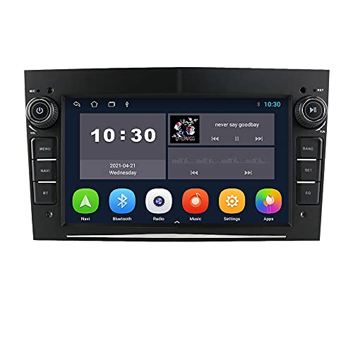 Android 10 Car Radio Stereo with 7 inch Touch Screen Fits for OPEL Astra/Corsa/Meriva/Vectra/Zafira/Tigra, Supports GPS Navigation Support USB SWC Mirror Link FM Bluetooth (Black)