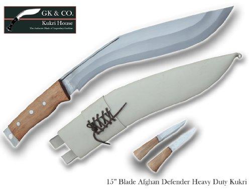 "Genuine Gurkha Kukri - 15"" Blade Afghan Defender Khukuri- Handmade by GK&CO.Kukri House In Nepal."