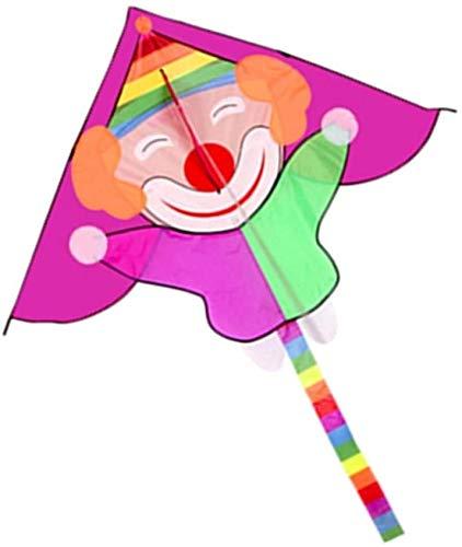 Forte e Robusto Aquilone, Bambini Kite Belle Aquiloni for Kids Facile da pilotare for la Spiaggia Outdoor 8 13square Metri Nibbio Bruno Scheletro Duro (Colori: 5,5 Metri Quadrati) (Color : Purple)