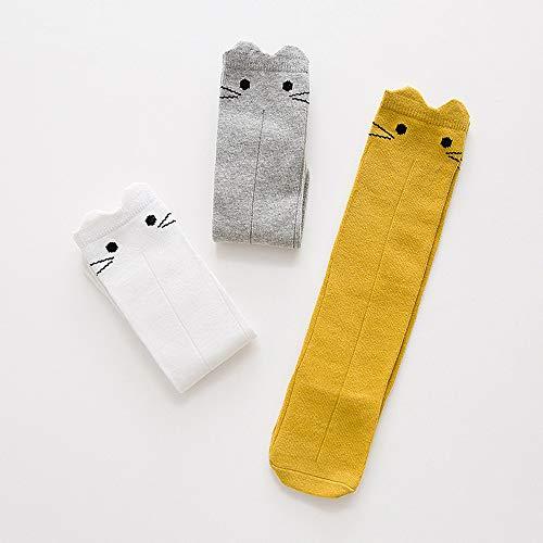 SHUHUAN Bebé Feliz Calcetines Divertidos Edad sobre la Rodilla Medias Dibujos Animados niño niño niño Calcetines niña Calcetines