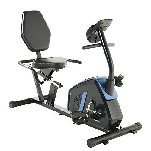 Exerpeutic Easy Step Thru Magnetic Recumbent Exercise Bike, Black/Blue (4121)