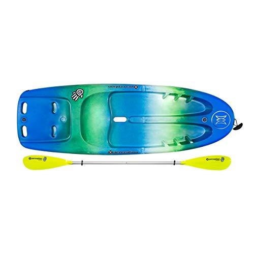 "Perception Kayaks Hi Five | Sit on Top Kids Kayak for Kids up to 120 Lbs. | Youth Kayak with Paddle | 6' 6"" | Déjà vu"