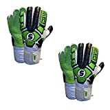 Select 33 Hard Ground Goalkeeper Gloves with Finger Protection - Bulk Pack of 2...