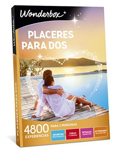 WONDERBOX Caja Regalo - PLACERES para Dos - 4.800 experiencias para Dos Personas