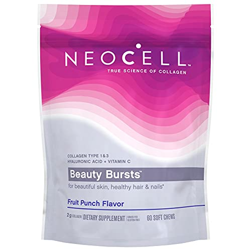 NeoCell Beauty Bursts Collagen Soft Chews, 2,000mg Collagen Types 1 &...