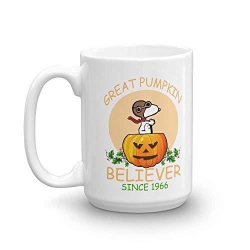 N\A Great Pumpkin Believer Seit 1966 Kaffeetasse | Cup-Fall Kürbis Gewürzbecher Saison Halloween-Pumpkin Believer Drinkware-Snoopy 11OZ Halloween-Tasse