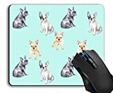Mouse Pad,French Bulldog Pet Puppy Computer Mouse Pads Desk Accessories Non-Slip Rubber Base,Mousepad for Laptop Mouse