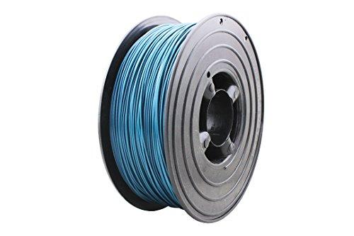 3D Filament 1kg B-Ware Filament Rolle in verschiedenen Farben Rot Gold Silber Grün Blau Braun Lila Violett Beige Transparent Gelb Orange Schwarz Weiß (Ozean-Blau (B-Ware))