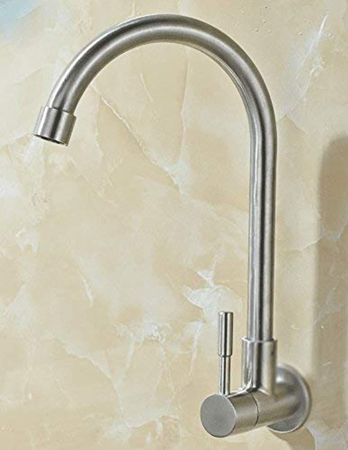 Oudan Sink Taps Into the wall stainless steel Single cold kitchen redating