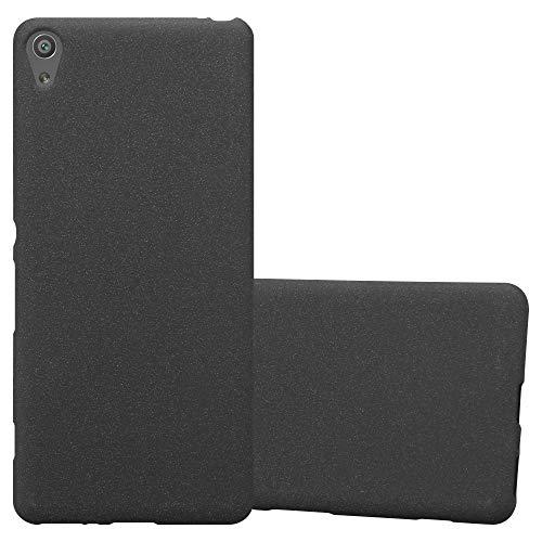 Cadorabo Coque pour Sony Xperia XA en Frost Noir - Housse Protection Souple en Silicone TPU avec Anti-Choc et Anti-Rayures - Ultra Slim Fin Gel Case Cover Bumper