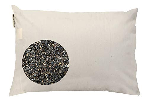 Beans72 Organic Buckwheat Pillow - Japanese Size (14 inches x 20 inches)