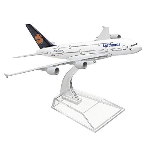 1:400 Legering Vliegtuig Model Vliegtuigen A380 Lufthansa Vliegtuig Schaal Bureau Speelgoed 16cm