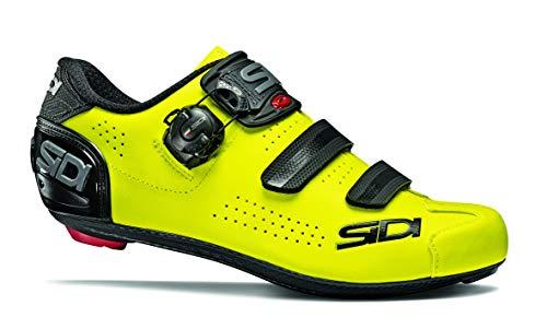 Sidi Alba 2 Road Cycling Shoes (8, Black/Flo Yellow)