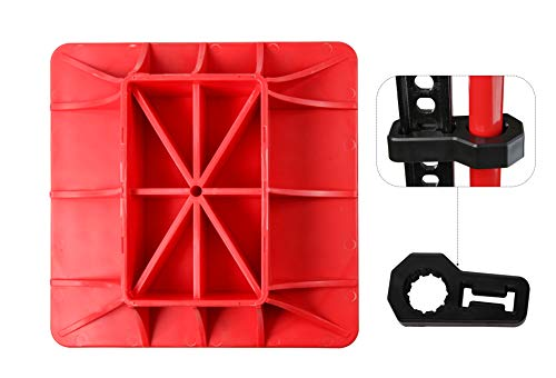 C&T Jack Base and Handle Bracket,2 Piece,Off Road Base,Red & Black,Alleviate Jack Hoisting Sinkage