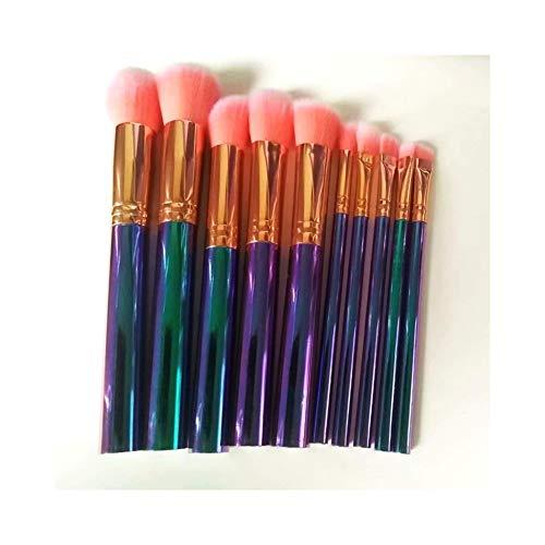 Sets de pinceaux de Maquillage Pinceau de Maquillage 10 Pinceau de Maquillage tridimensionnel Multi-Fonctions Ensemble Outil de Maquillage Brosse de beauté Portable Brosse de Maquillage (Color : A)