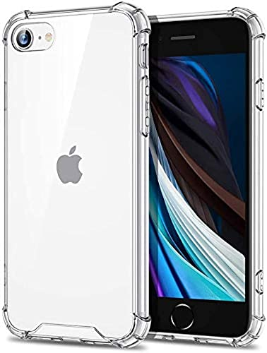 ExpressB Case for iPhone SE 2020 iPhone 7 iPhone 8 Case Shockproof Hard Back Cover Case with Soft Air Cushion Corners Cover for iPhone 7 iPhone 8 iPhone SE 2020 Back Cover Transparent Clear