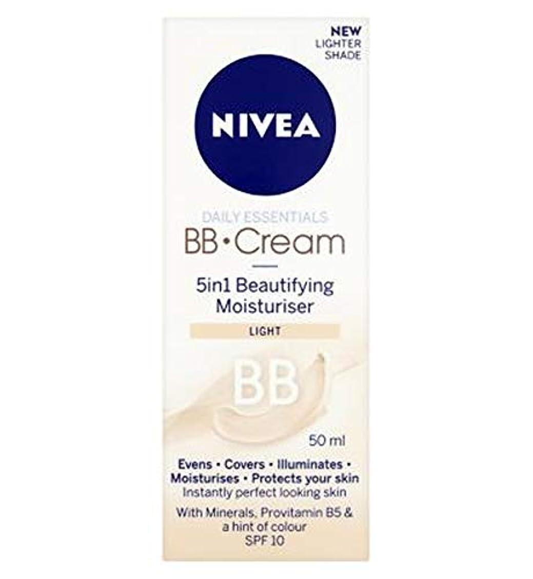 アリーナパンサー落胆する[Nivea ] 1つの美容保湿光50ミリリットルでNivea?日常必需品のBbクリーム5 - Nivea? Daily Essentials Bb Cream 5 In 1 Beautifying Moisturiser Light 50Ml [並行輸入品]
