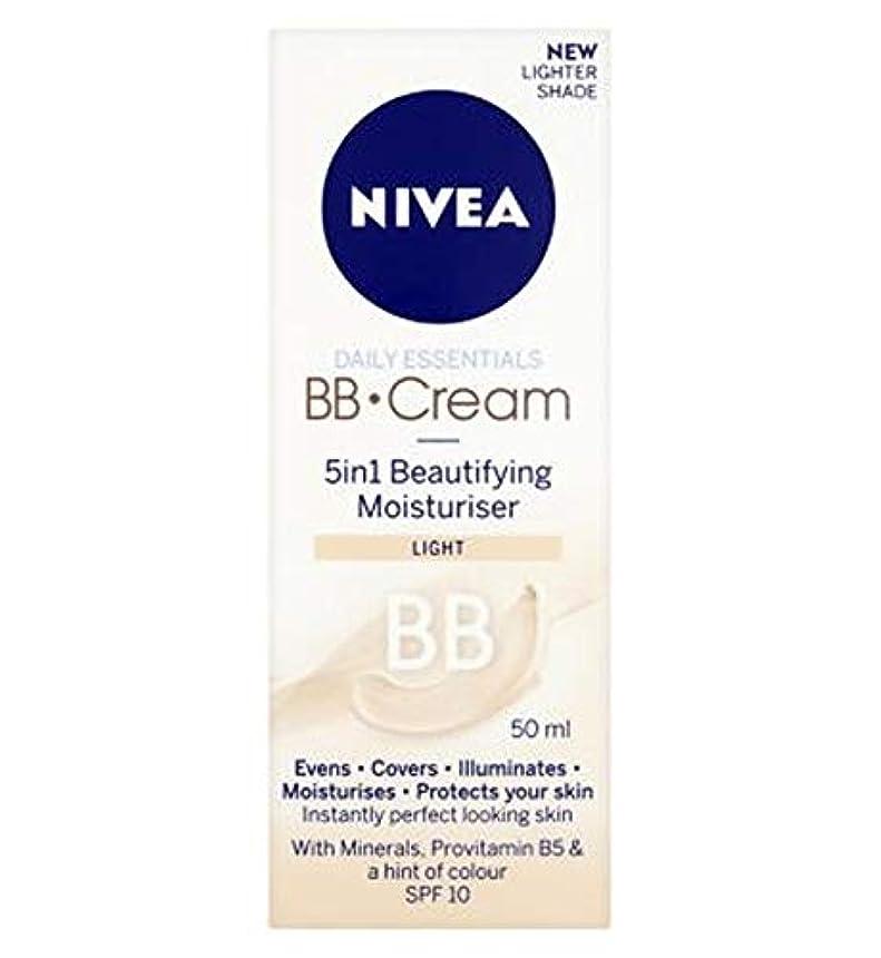 コンテンツ週末理想的には[Nivea ] 1つの美容保湿光50ミリリットルでNivea?日常必需品のBbクリーム5 - Nivea? Daily Essentials Bb Cream 5 In 1 Beautifying Moisturiser Light 50Ml [並行輸入品]