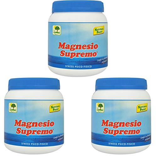 Magnesio Supremo Polvere Solubile 300 gr. - Natural Point 3 Confezioni