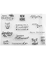 Healifty Clear Decoration Stamps Transparent Tpr Seal Stamps Diy Craft Scrapbooking Stamps for Card Making Photo Album Diary